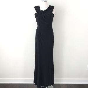 Calvin Klein S 4 Black Ruched Formal Maxi dress